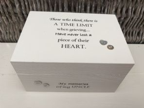 Personalised In Memory Of A Loved One ~ Box ~ UNCLE ~ any Name Bereavement Loss - 253568268557